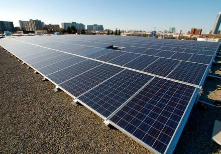 Rooftop solar array. Image courtesy of RESCo Energy Inc.