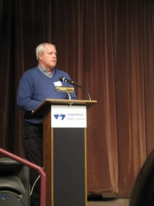 Tom Chessman, Vice-President, Hamilton Renewable Power Inc. speaks at the first Annual General Meeting of HARE